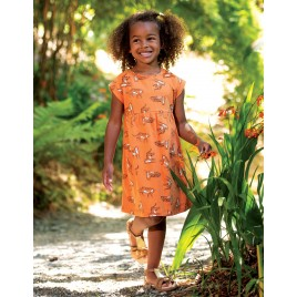Frugi Fran Jersey Dress Marigold Tigers
