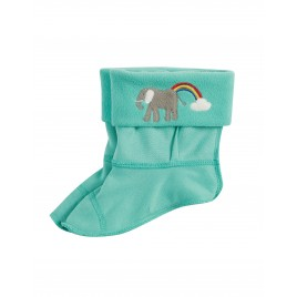 Frugi Warm Up Welly Liner Pacific Aqua/Elephant