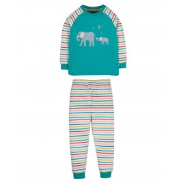 Frugi Jamie Jim Jams Jewel Elephant