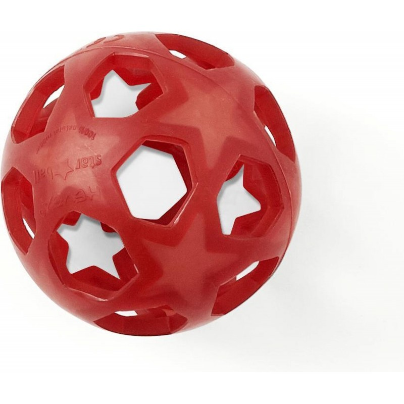 Hevea Star Ball - Speelbal natuurrubber baby raspberry red