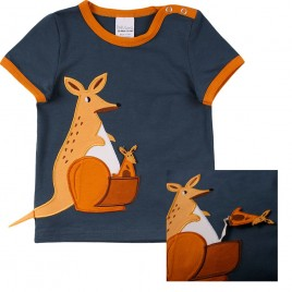 Green Cotton Hello kangaroo s/s T baby midnight
