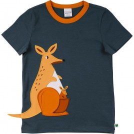 Green Cotton Hello kangaroo s/s T midnight