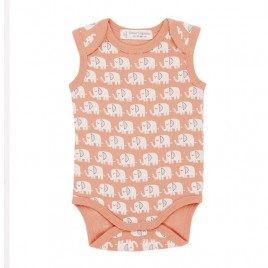 Sense Organics Yaro Retro Baby Body Sleeveless Elephant