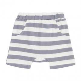 Sense Organics Emilio Retro Shorts Dusty Blue Stripes