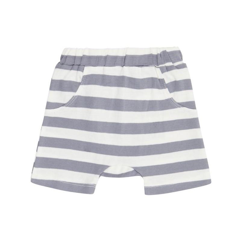 Sense Organics Emilio Retro Shorts Dusty Blue Stripes