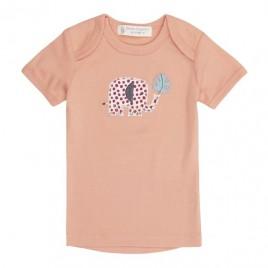Sense Organics Tilly Retro Baby Shirt S/S Coral + Elephant