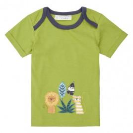 Sense Organics Tobi Baby Shirt S/S Green + Lion