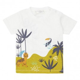 Sense Organics Odo Baby Shirt S/S White + Jungle