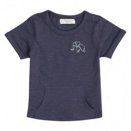Sense Organics Tambo Baby Shirt S/S Navy + Elephant