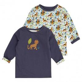 Sense Organics Felix Reversible  Baby Shirt  Navy + Tiger