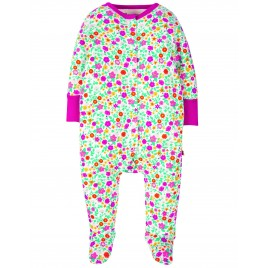 Frugi Lovely Babygrow  Ditsy Flower Valley