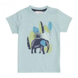 Sense Organics Ibon Baby Shirt S/S light teal + elephant