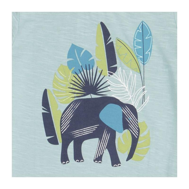 Sense Organics Ibon Shirt S/S light teal + elephant
