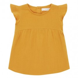 Sense Organics Neela Baby Dress orange