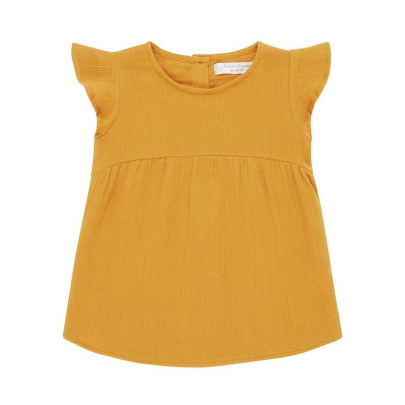 Sense Organics Neela Baby Dress orange