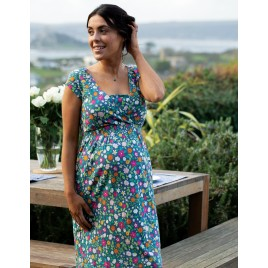 Frugi Spring Maternity and Nursing Dress Flower Valley
