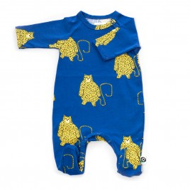 Onnolulu Jumpsuit Otto with feet Leopard