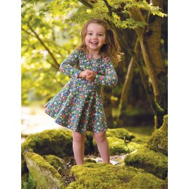 Frugi lLittle Sofia Skater Dress Little Rabbit Fields