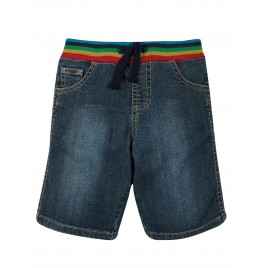 Frugi Dorian Denim Shorts Mid Wash Denim