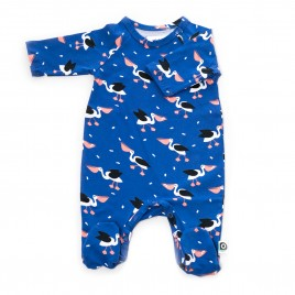 Onnolulu Jumpsuit Otto with Feet Pelican