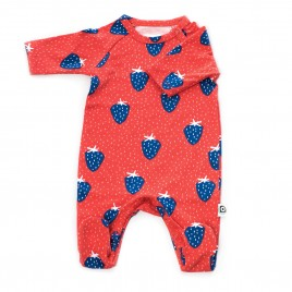 Onnolulu Jumpsuit Otto with feet Strawberry