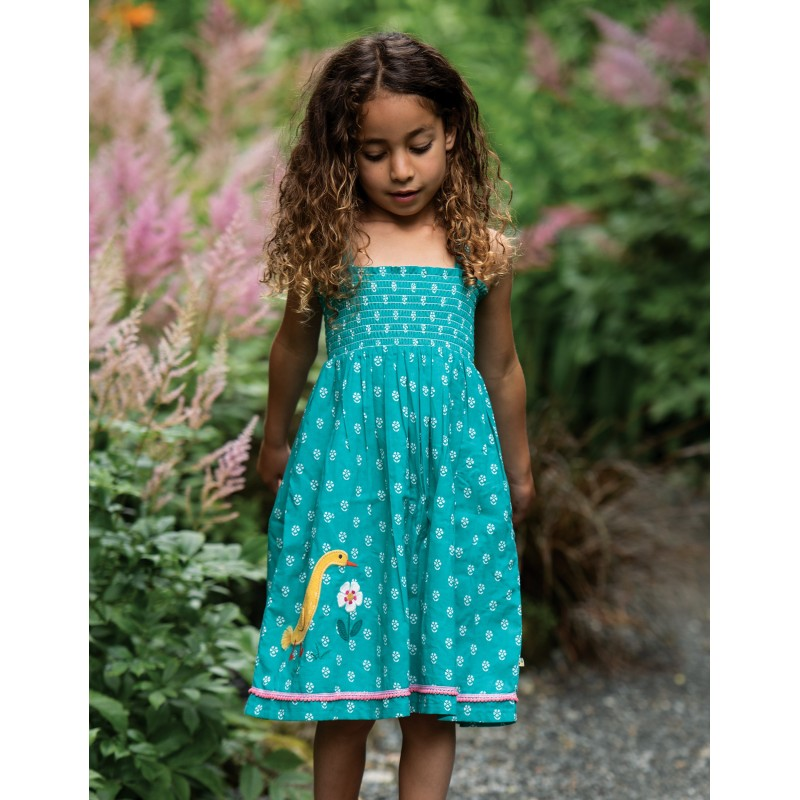 Frugi Cora Skirt Dress Jasmine/Ducks