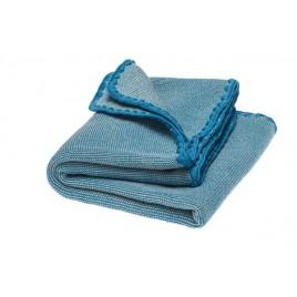 Disana Summer Blanket natural-blue jay