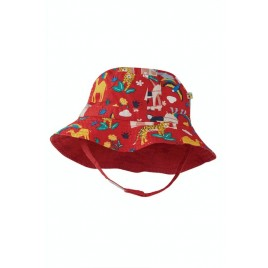 Frugi Little Dexter Reversible Hat True Red India
