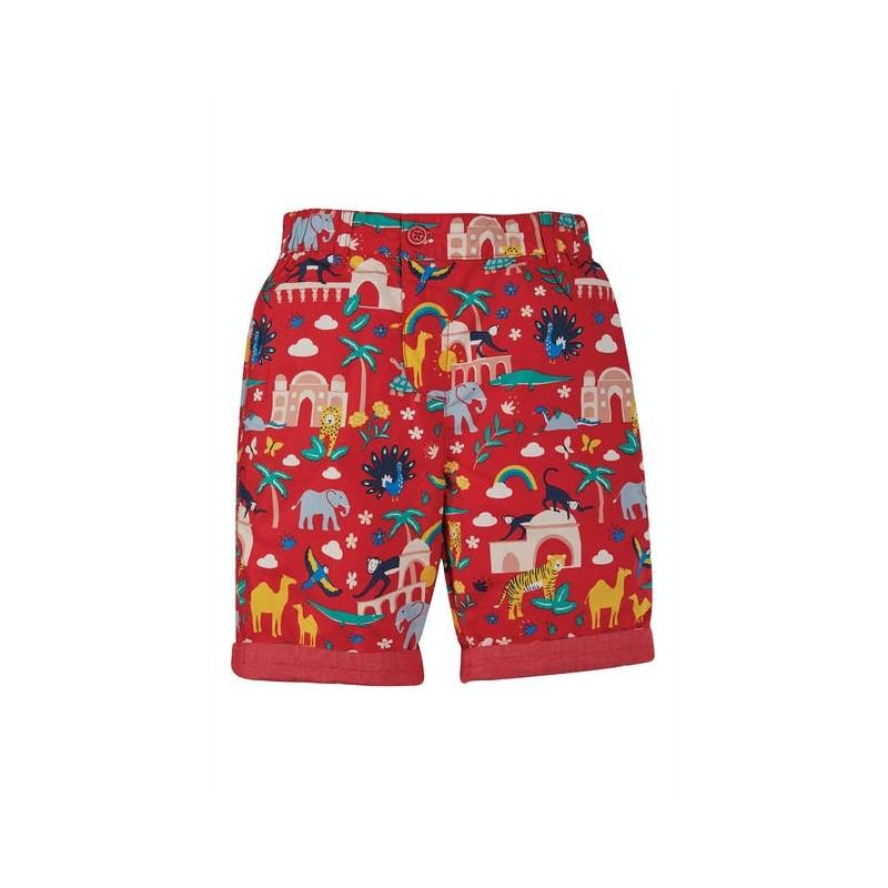 Frugi Ralph Reversible Shorts True Red India