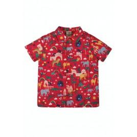 Frugi Harvey Hawaiian Shirt True India Red