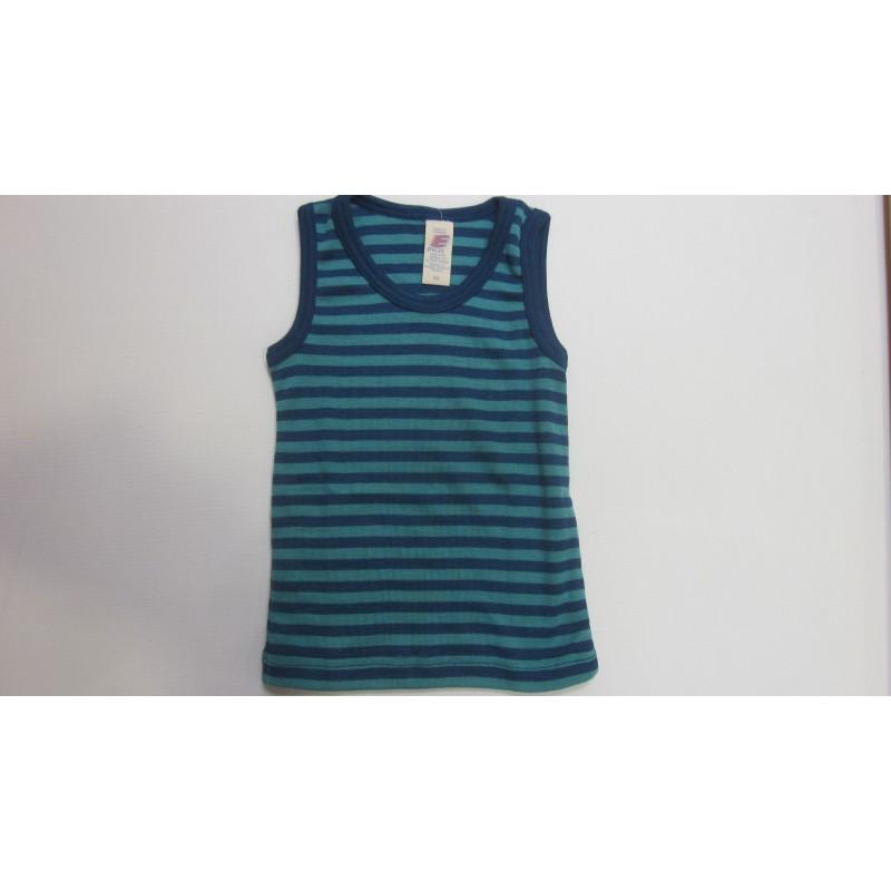 Engel Children's shirt sleeveless, fine rib light ocean/ ice-blue