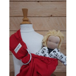 Babylonia BB-Sling voor poppen  Currant Red