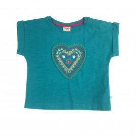 Frugi Sophia Slub T-shirt Jewel-Heart