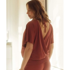 CacheCoeur Maternity and nursing top terracota