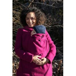 Mamalila Hooded  Babyweraing Coat Vienna berry