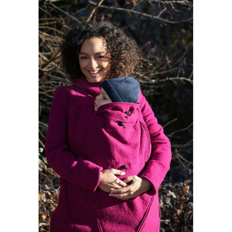 Mamalila Hooded  Babyweraing Coat Berry  berry