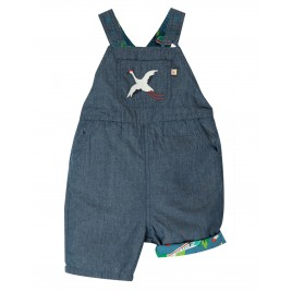 Frugi Rory Reversible Dungaree bullet train
