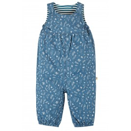 Frugi Meadow Reversible Dungaree Chambray Floral