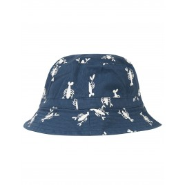 Frugi Ross Reversible  Hat indigo lobster