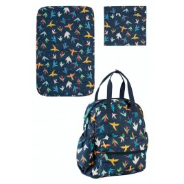 Frugi Out and About Changing Back Pack Rainbow Birds