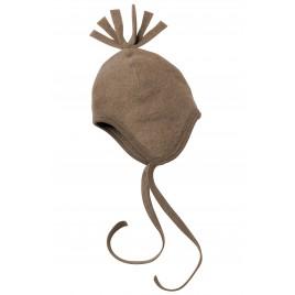 Engel Baby-Hat, Fleece walnut mélange
