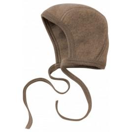 Engel Baby Bonnet Fleece walnut mélange
