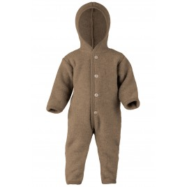 Engel Hooded Overall with Cuffs Walnut mélange