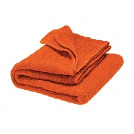 Disana Knitted Woollen Baby Blanket orange