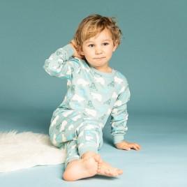Sense Organics Long John Retro Pyjama Walrus/Polar Bear