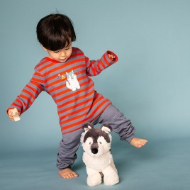 Sense Organics Elan Baby Shirt Stone B-Red S + Husky