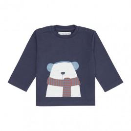 Sense Organics Elan Baby Shirt Navy + Polar Bear