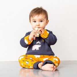 Sense Organics Dolores Baby Reversible Shirt Navy + Polar Bear