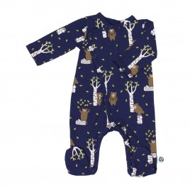 Onnolulu Jumpsuit with feet Forest