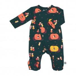 Onnolulu Jumpsuit with feet Pumpkin